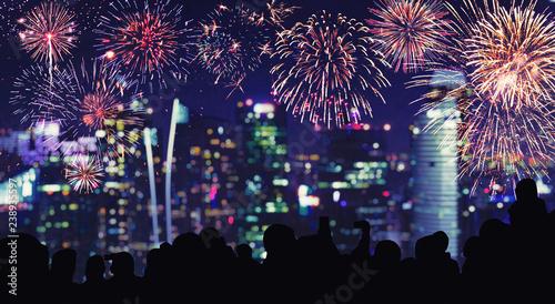 Wunderschönes Feuerwerk #238935597