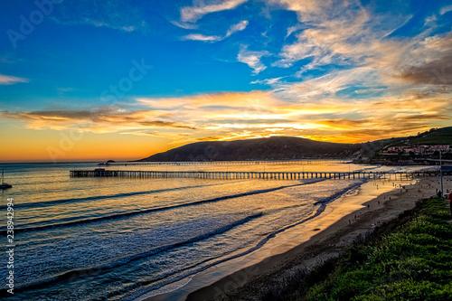 Sunset on the Central Coast of California, Avila