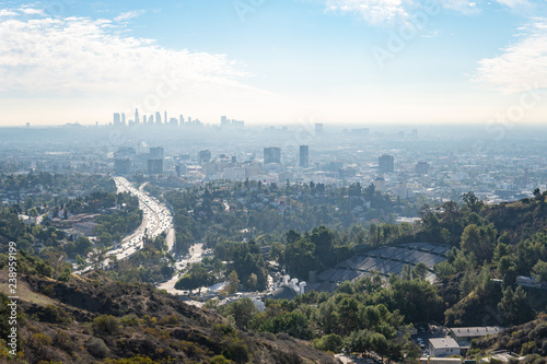 Fotografia View of Los Angeles from the Hollywood Hills