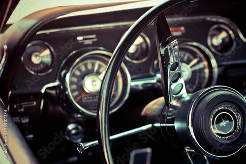 Obraz na plátně Mustang Metal Wheel