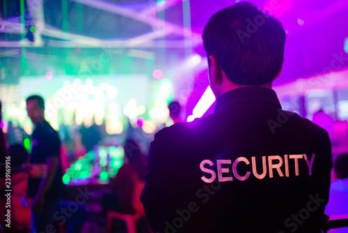 Fotografie, Obraz security guard in night club.