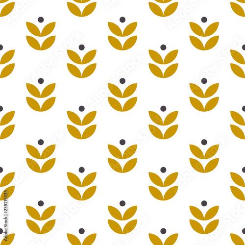 Fototapeta Simple seamless geometric pattern in scandinavian style