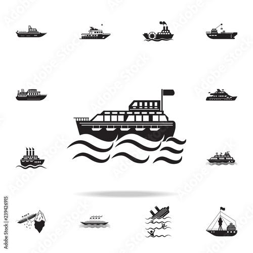 Obraz na płótnie ferry to the sea icon