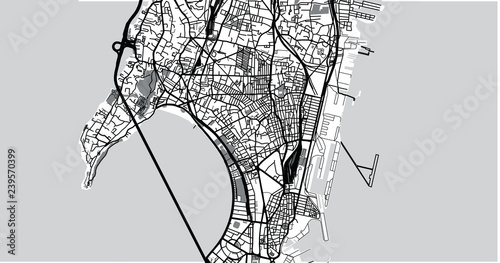 Fotografie, Obraz Urban vector city map of Mumbai, India