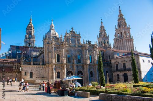 Billede på lærred santiago de compostela is the capital of northwest Spain's Galicia region