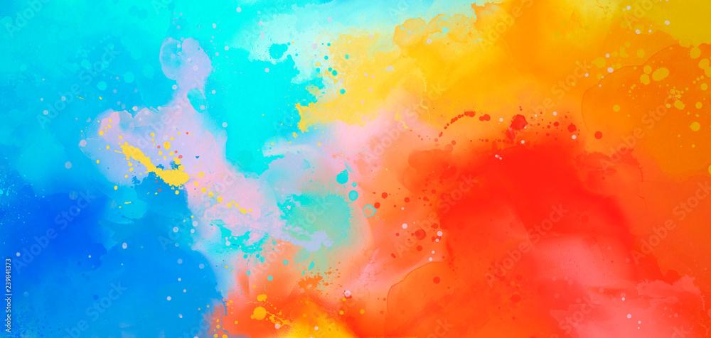 jaskrawy Abstrakcjonistyczny akwareli rysunek na papierowym wizerunku <span>plik: #239841373 | autor: foldyart1980</span>