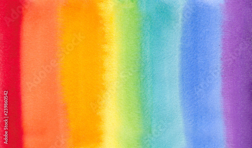 Fotografie, Obraz rainbow watercolor hand draw illustration , for creative design tag, print, textile, paper, label, text, poster, banner
