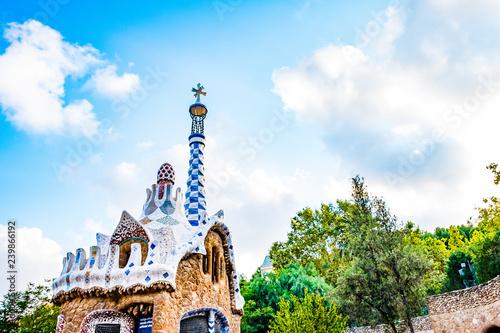 Fotografiet Parc Guell Barcelone, Espagne