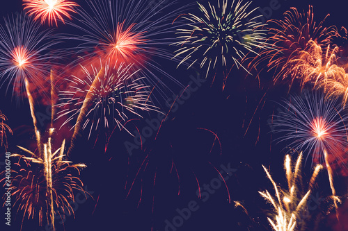 Canvas Print fireworks abstract background for celebration