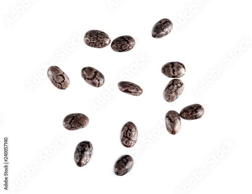 chia seeds macro isolated