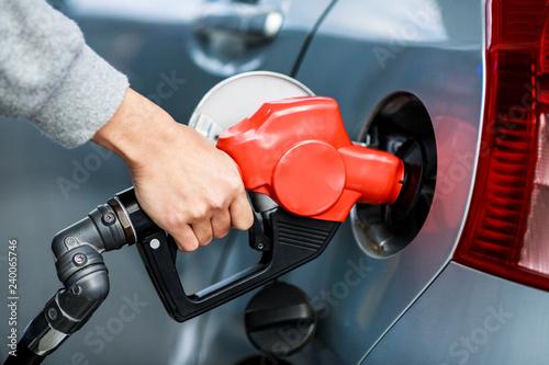 Fotografie, Tablou ガソリンのセルフスタンド風景