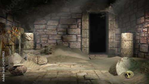 Fotografie, Tablou Plundered Egyptian tomb