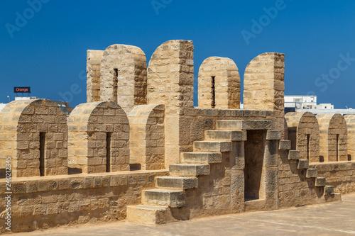 SOUSSE / TUNISIA - JUNE 2015: Ribat (fortress) inside medieval medina of Sousse, Fototapeta