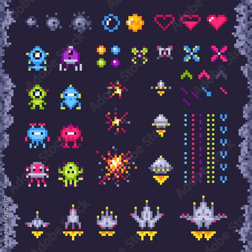 Fotografía Retro space arcade game
