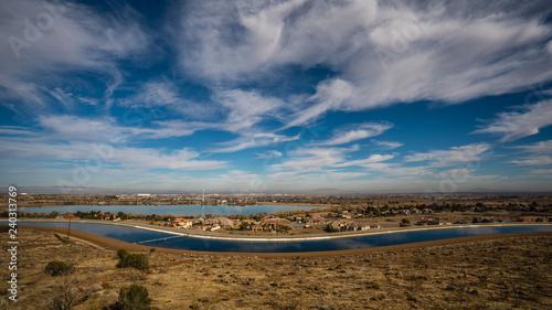 Canvastavla The California aqueduct near Palmdale california
