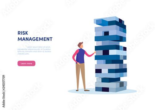 Slika na platnu People gambling placing block stack