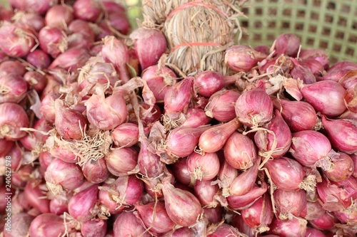 Shallots at the market