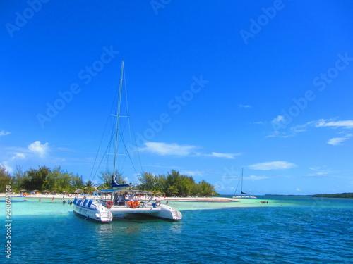 Catamaran at the beach in cayo blanco, Cuba