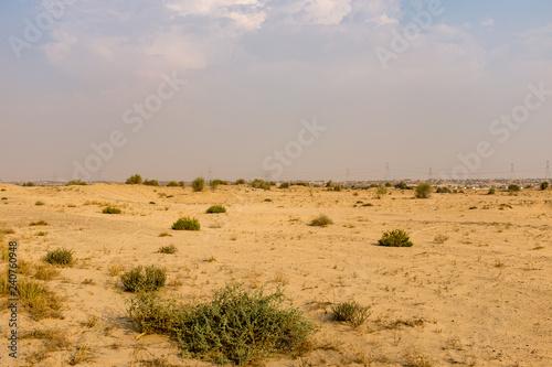 Fotografija Scrubland on the outskirts of Dubai, United Arab Emirates