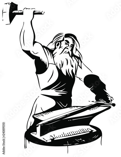 Fotografia Thor god of iron
