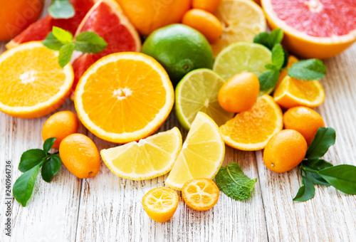 Fototapeta Fresh citrus fruits