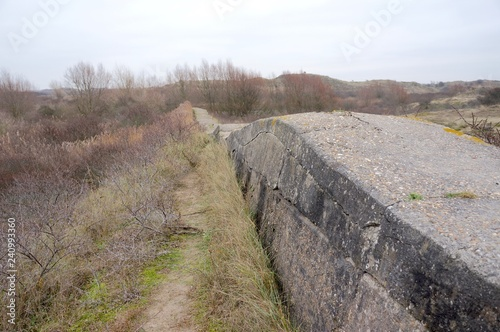 Cuadros en Lienzo Ruins of the Atlantic Wall (Dutch Atlantikwall), built by the German nazis in Wo