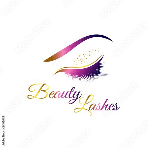 Slika na platnu Beauty Cosmetic Eye Lashes Logo Symbol Icon