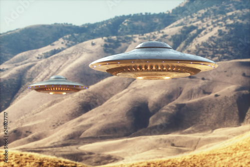 Canvas Print Unidentified Flying Object UFO