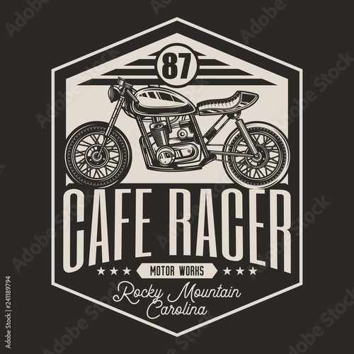 Canvas-taulu Motorcycle cafe racer vintage style