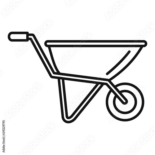 Canvas-taulu Wheelbarrow icon