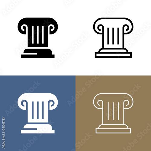 Obraz na płótnie Greek Column Icon Set