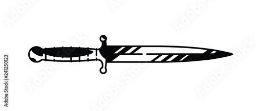 Fotografering Illustration of the logo of the dagger