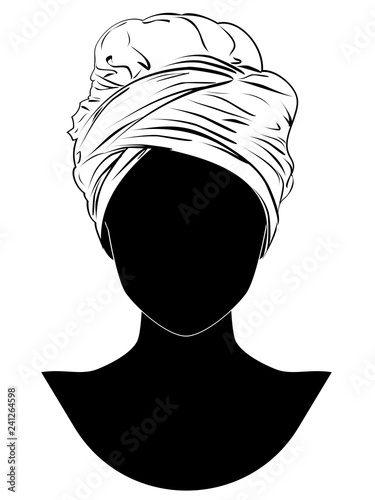 Obraz na plátně African style turban