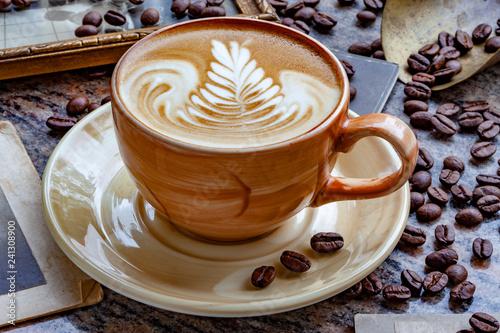 Kaffee Latte Art Fototapeta