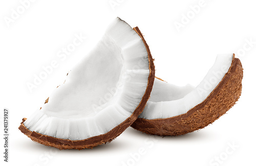 Fotografia coconut, isolated on white background, full depth of field, clipping path