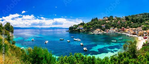 Canvas Print Scenic ionian islands of Greece - beautiful Paxos