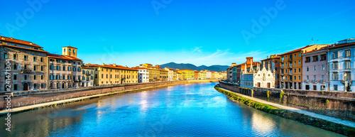 Fotografia Pisa, Arno river sunset