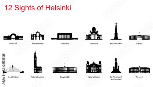 Canvas Print Helsinki Sights