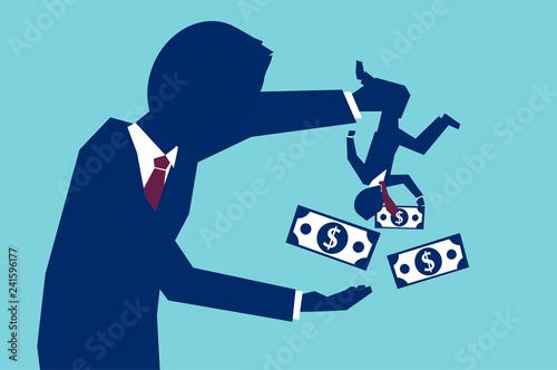 Fotografia, Obraz Businessman borrowing money from worker