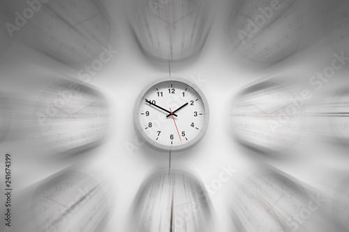 Folia na okno łazienkowe Zegar z efektem rozmycia czasu