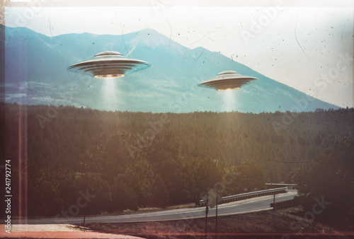 Canvas Print Unidentified flying object