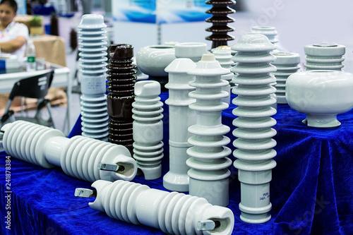Fotografie, Tablou Electrical ceramic / porcelain electrical insulation material