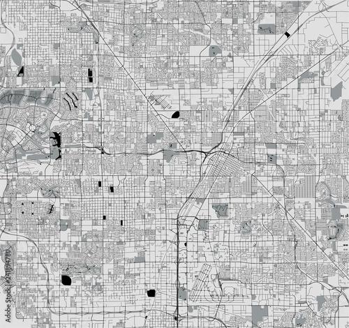 Fototapeta map of the city of Las Vegas, Nevada, USA