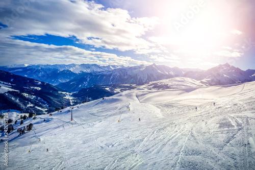 Wintersport in Königsleiten, Österreich