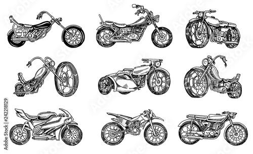 Fotografija Set of Vintage motorcycles