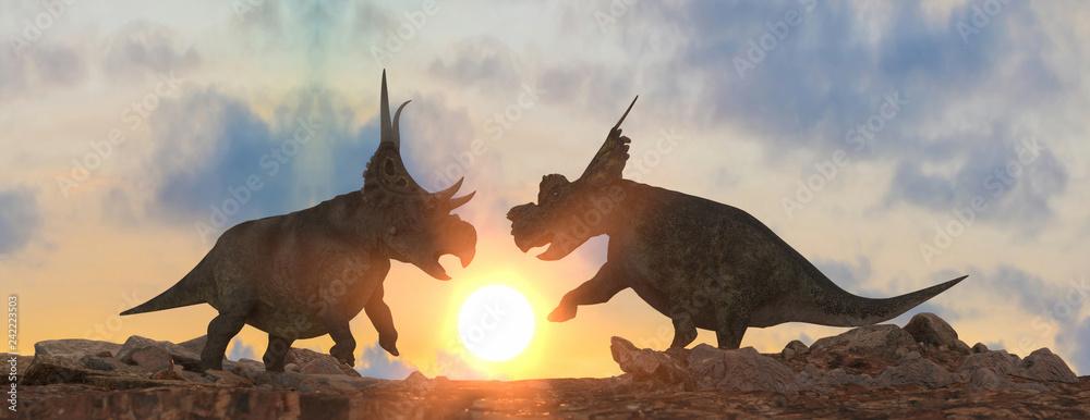 battle of dinosaurs render 3d <span>plik: #242223503 | autor: denissimonov</span>