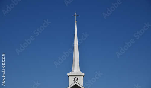 """Photo """"The Hands"""" close up of church steeple unretouched"""