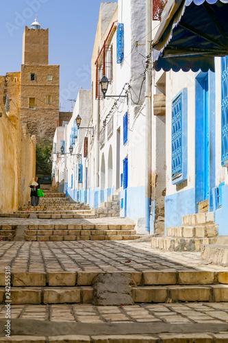Altstadtgasse und Festung Sousse Fototapeta