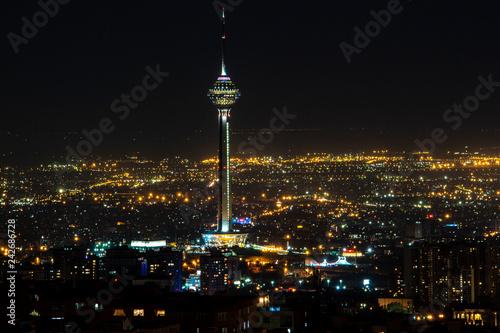 night view of Tehran
