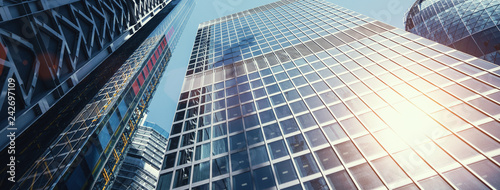 Fotografia, Obraz modern office buildings skyscraper in London city